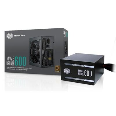 Cooler Master Mwe 600 Bronze, 80+ Bronze Certified 500W Power Supply, 3 Year Warranty