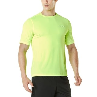 Tesla MTS04 HyperDri Short Sleeve Athletic T-Shirt - Solid Neon Yellow (More options available)