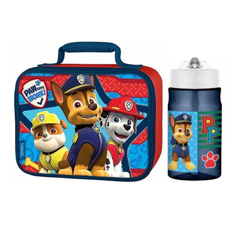 Thermos Paw Patrol Water Bottle with Straw (12 oz) and Soft Lunch Box