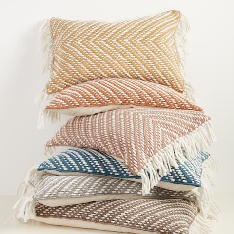 Austar Chevron Indoor/ Outdoor Lumbar Pillow