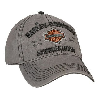 Harley-Davidson Men's Embroidered Bar & Shield Baseball Cap, Charcoal BCC51654