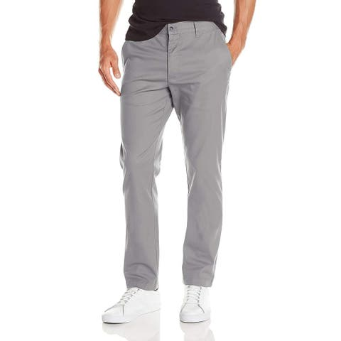 RVCA Mens Pants Gray Size 28X30 Flat Front Weekend Stretch Chino