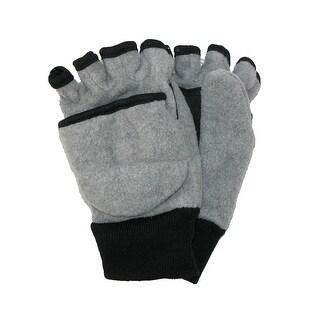 CTM® Kids' 4-7 Fleece Flip Top Fingerless Gloves and Mitten - One Size