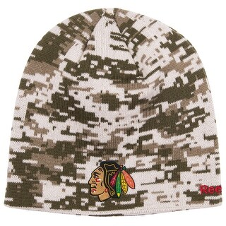 Chicago Blackhawks Digital Camo Beanie
