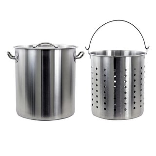 Chard SSPSB-42 42-Quart Stainless Steel Stock Pot with Basket