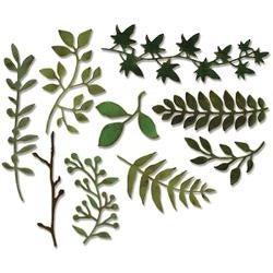 Garden Greens - Sizzix Thinlits Dies 9/Pkg By Tim Holtz