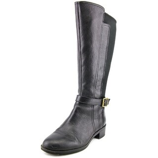 Naturalizer Mint Wide Calf Round Toe Leather Knee High Boot