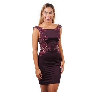 Stretch Satin and Lace Dress
