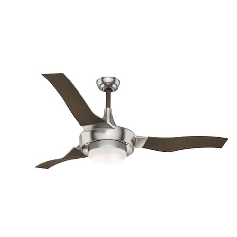 """Casablanca 64"""" Perseus Outdoor Ceiling Fan with LED Light Kit and Wall Control, Damp Rated"""