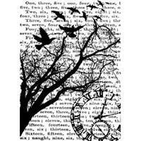 """Time - Tim Holtz Cling Rubber Stamp 2.5""""X3.5"""""""
