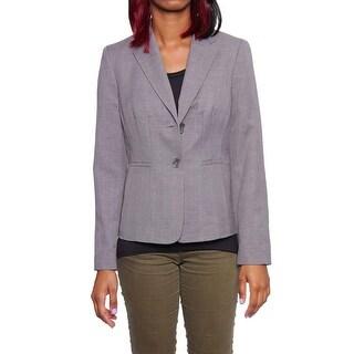 Kasper Women Seamed Notched Collar Jacket Basic Jacket Pearl Grey
