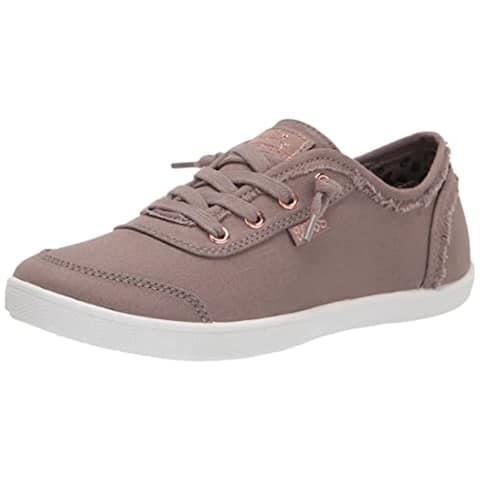 Skechers BOBS Women's 33492 Sneaker, Taupe, 11