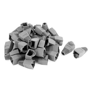 36 Pcs Ethernet Network Cable RJ45 Plug Strain Relief Boots Cover Cap Gray