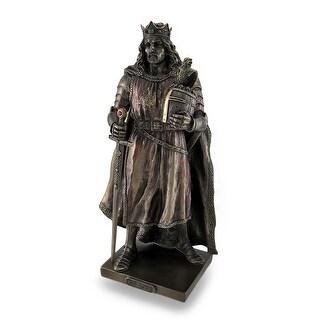 Legendary King Arthur Bronzed Sculptured Statue