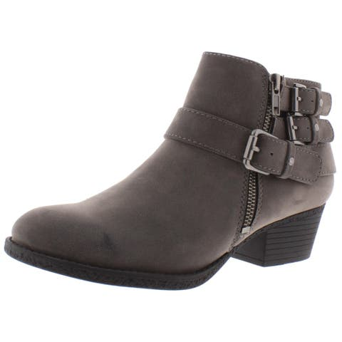 Madeline Womens Snowflake Ankle Boots Faux Leather Booties