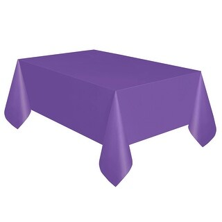 Neon Purple Plastic Table Cover - Rectangle