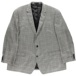 Shaquille O'Neal Mens Big & Tall Wool Silk Two-Button Blazer - 56l