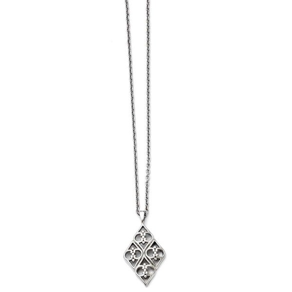 Chisel Stainless Steel Polished Necklace (2 mm) - 20 in