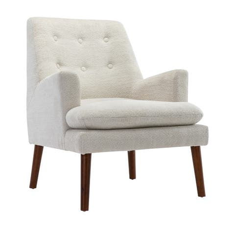 Corvus Dunvegan Tufted Chenille Upholstered Accent Chair