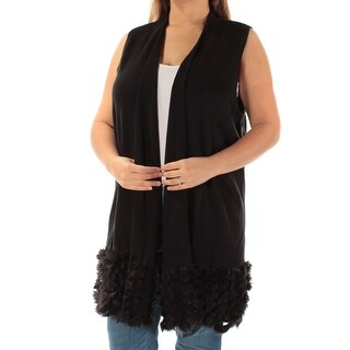 Womens Black Sleeveless Casual Vest Sweater Size XL