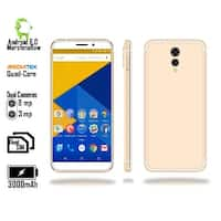 "Indigi 2018 GSM Unlocked 4G LTE 5.6"" SmartPhone [ Android 6 + Quad-CORE @ 1.2GHz + DUALSIM + Fingerprint Scan) (Gold)"