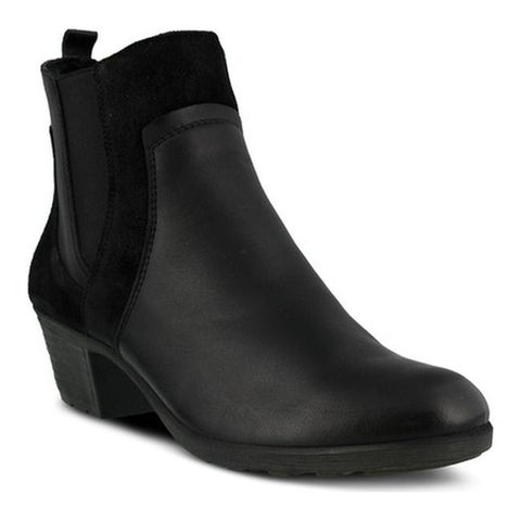 Spring Step Women's Pousada Ankle Boot Black Leather/Suede