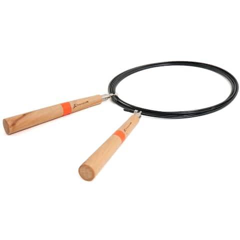 Lightweight Durable Speed Jump Rope w Wooden Handles