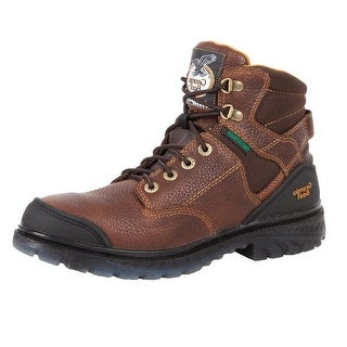 "Georgia Boot Work Mens 6"" Zero Drag Waterproof Steel Toe Brown G086"