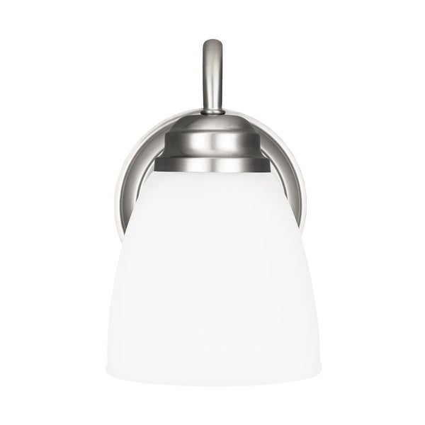 Sea Gull Lighting 4112401-962 1-Light Wall Bath Brushed Nickel - nickel finish