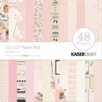 """Kaisercraft Paper Pad 12""""X12"""" 48/Pkg-Peekaboo Girl"""