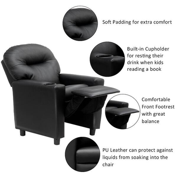 Incredible Shop Gymax Kids Sofa Manual Recliner Pu Ergonomic Lounge Gmtry Best Dining Table And Chair Ideas Images Gmtryco