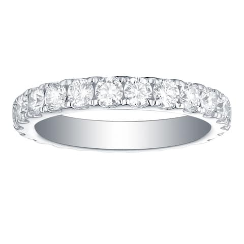 Lab Grown Diamond Eternity Band, 2 Ctw 14K Solid Gold by Smiling Rocks