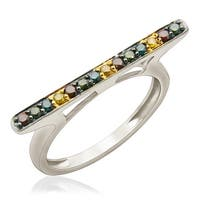 Prism Jewel 0.25Ct Round 1.55MM Multi Color Diamond Anniversary Ring