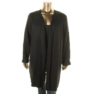 NY Collection Womens Plus Cardigan Sweater Knit Open Front