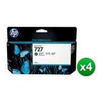 HP 727 130-ml Matte Black DesignJet Ink Cartridge (B3P22A) (4-Pack)