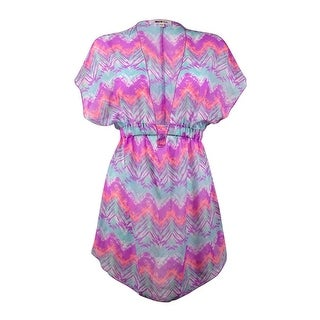 Miken Women's Ikat Chevron Chiffon Swim Cover Up
