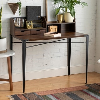Link to Carbon Loft 42-inch Writing Desk with Small Hutch Similar Items in Desks & Computer Tables