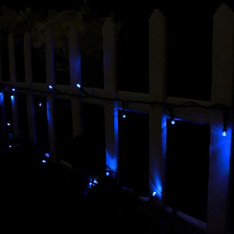 Sunnydaze 200-Count LED Solar Powered String Lights Blue - Set of 2 Strands - 2 Sets