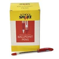 School Smart Red Ballpoint Pen, Pack of 48