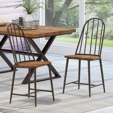 Gessling Farmhouse Spindle Back Dining Chairs (Set of 2) by Christopher Knight Home