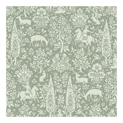Sherwood Sage Woodland Wallpaper - 20.5 x 396 x 0.025