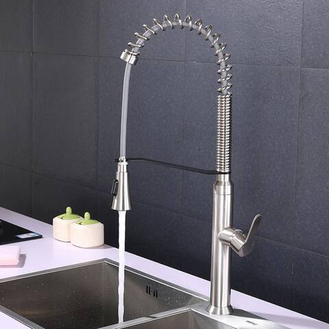 Stainless Steel Kitchen Faucet with Pull Down Sprayer