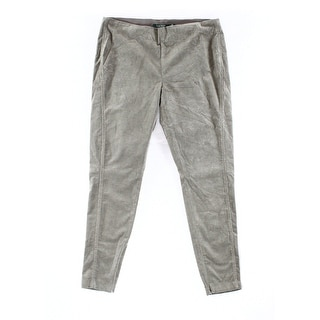 Lauren Ralph Lauren NEW Gray Women's Size 14 Cropped Corduroys Pants