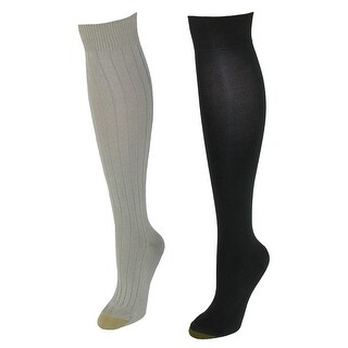Gold Toe Women's Plus Size Stella Knee High Socks (2 Pair Pack)