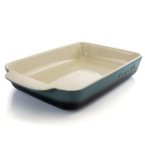 Crock Pot Artisan 4 Quart Stoneware Bake Pan in Blue