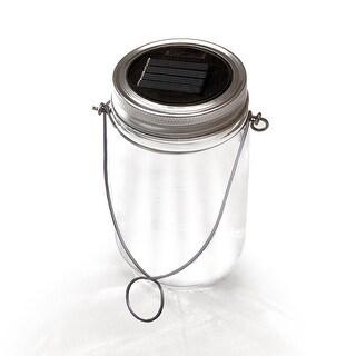 NITESHINE Solar Glass Mason Jar Light For Outdoor Decor Single Pack