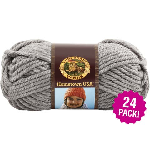 Lion Brand Hometown Usa Yarn 24/Pk-Dallas Grey