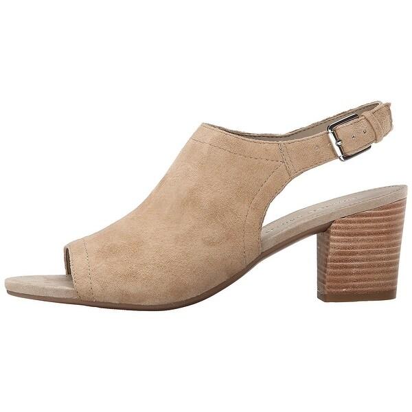 Franco Sarto Womens Monaco Leather Open Toe Casual Mule Sandals
