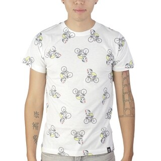 Tokidoki Skully Ride Pattern Men's White T-shirt