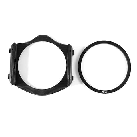3-Slot Filter Holder + 77mm Aluminum Adapter Ring for Cokin P Series DSLR